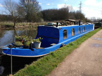 60ft Beautiful Traditional Narrowboat 'Antler' Liveaboard Canal Boat