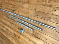 Galvanised scaffolding tubes 33.7mm and connectors combo