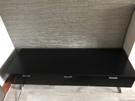 Black lacquered TV stand or side storage unit