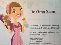 The Clean Queen. Domestic and Commercial cleaning