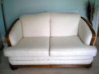 2 seater sofa - recovered in cream