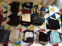 Variety of clothes and accessories in a variety of sizes, from UK clothes size 6 to 18