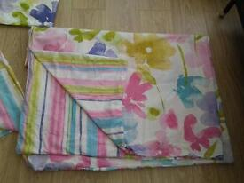 Dunelm floral curtains, Quilt cover and pillow cases