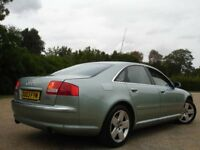 !!! AUDI A8 4.2 QUATTRO AUTOMATIC !!! 2003 PLATE LEATHERS SAT NAV NEWER SHAPE !