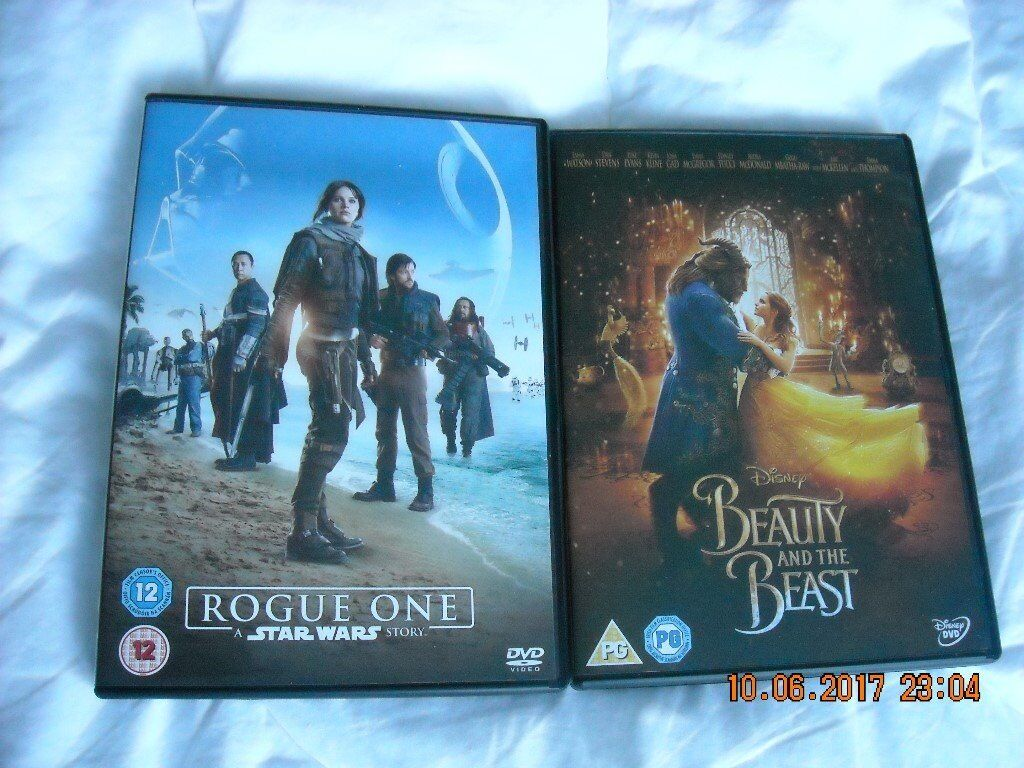 Two DVDs - Beauty and the Beast and Rogue One Star Wars Story