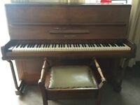 Piano. Dale, Forty. Overstrung. Good working condition.