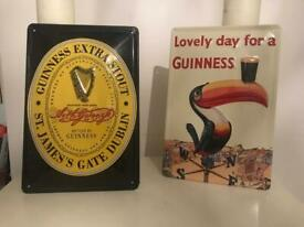 Guinness wall plaques