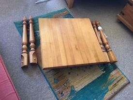 Wooden table, lovely sturdy Tea or dinning table for a small flat or kitchen