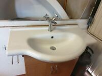 Sink Unit with taps