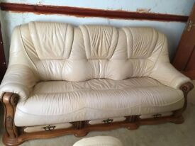 3 Piece sofa set leather
