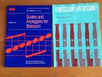 Bassoon Music and Scales book: A miscellany for Bassoon and Scales and Arpeggios grades 1-8.