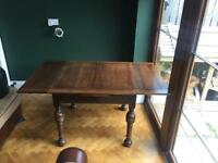 1920s antique dining table extending