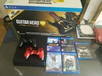 ps4 slim 500gb 2 controlers and 6 games