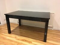 NEXT Extendable Black High Gloss Dining Table