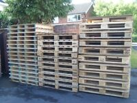 GOOD CLEAN WOODEN PALLETS FOR FURNITURE,TABLES,TRANSPORT ETC,DELIVERY POSSIBLE.