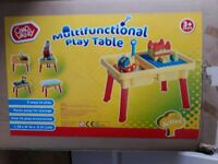 Multifunctional Play Table age 3+, in box. Used once
