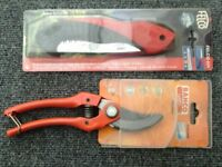 GARDENING TOOLS ,PRUNING SAW ,SECATEUR ,,, NEW