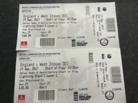 One day international 19th September Old Trafford England vs West Indies