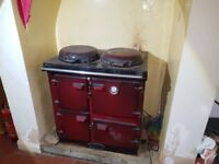 Aga/ Rayburn style range and central heating, hot water boiler