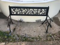 TAKEN - Free metal garden bench frame