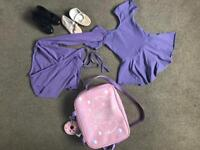 Ballet outfit with tap shoes and ballet shoes