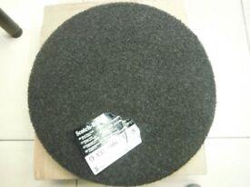 3M Scotch Brite Black Floor Pads For Wet Stripping 17 inch