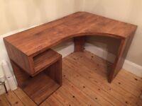 Brown corner desk unit - great condition