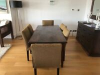 Lombok Malang Dining table with 6 chairs