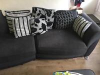 4 seater sofa and swivel chair