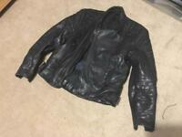 Leather Motorcycle Jacket Size L/XL
