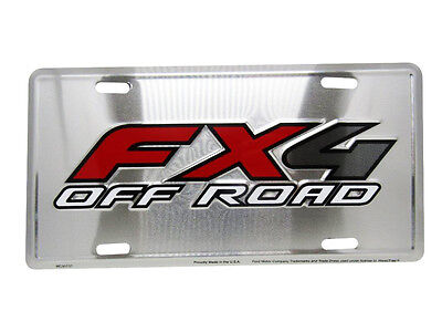 """FX4 Off Road Ford 4 Wheel Drive 6""""x12"""" Aluminum License Plate Tag"""
