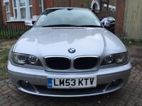 bmw 318 coupe 3 series e46 auto 2004 silver 2 owners cheapest automatic facelift model 6 gears