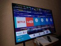 HISENSE 49-inch 49N5500 UHD 4K HDR Smart LED TV,built in Wifi,Freeview HD & FREESAT HD,FULLY WORKING