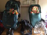 Quinny buzz travel system, car seat and isofix base