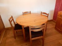 Ducal dining table & 6 chairs - £120