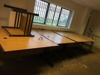 7 Office Tables for grabs plus connecting corner desk