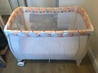 Baby start travel cot with mattress case and wheels