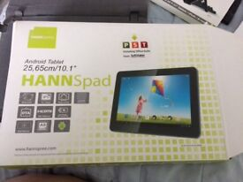 Hannspree android tablets with lots of accessories not been used