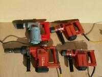 4 x HILTI HAMMER DRILL TE24 TE17 TE12S TE12S