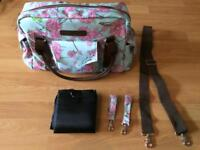 Floral baby changing bag - As New, never used