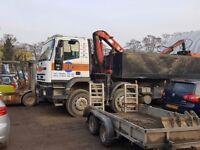 Iveco Euro Trakker 8x4 tipper Grab Lorry