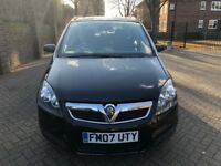 VAUXHALL ZAFIRA 1.8, FULLY AUTOMATIC YEAR 2007, VERY LOW MILEAGE, FULL SERVICE HISTORY, LADY OWNER