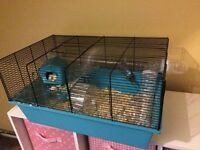 Hamster cage and food and some bedding £15
