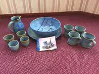 JMJ POTTERY Blue Mottle