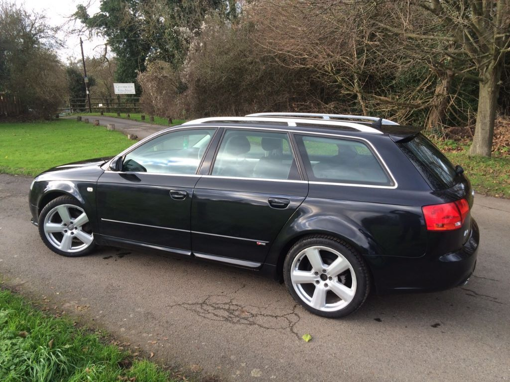 2008 audi a4 avant s line tdi 140 metalic black full service history sat nav full leather. Black Bedroom Furniture Sets. Home Design Ideas