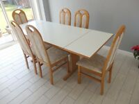 Contemporary Dining Room Table & 6 Chairs