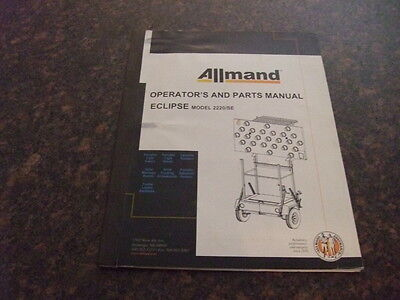 Allmand 2220se Eclipse Flashing Arrowboard Operators And Parts Manual