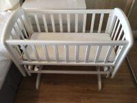 John Lewis Anna Glider Baby Crib with Mattress