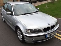 2004/45 BMW 320D ES, 4 DOOR MANUAL, SILVER, 139000 MILEAGE, FULL SERVICE HISTORY, LONG MOT
