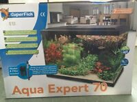 tropical fish tank full setup 70 litres